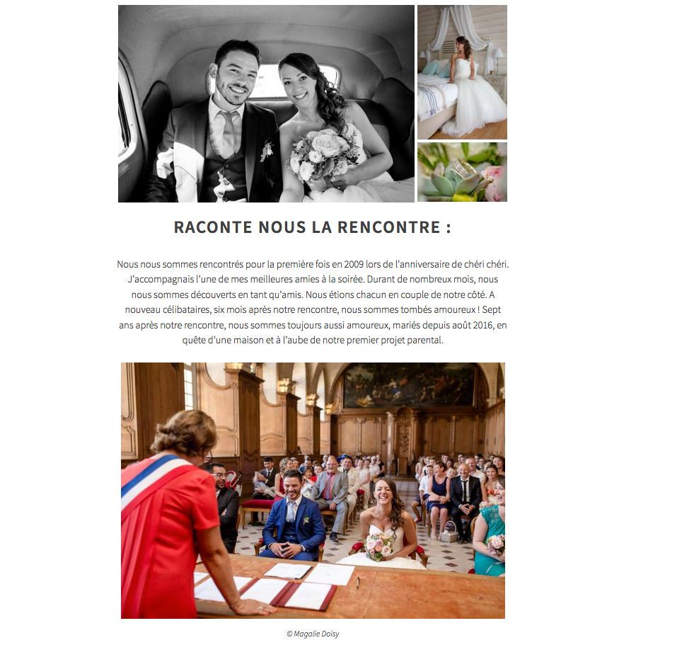 Photographe mariage Caen - Publication