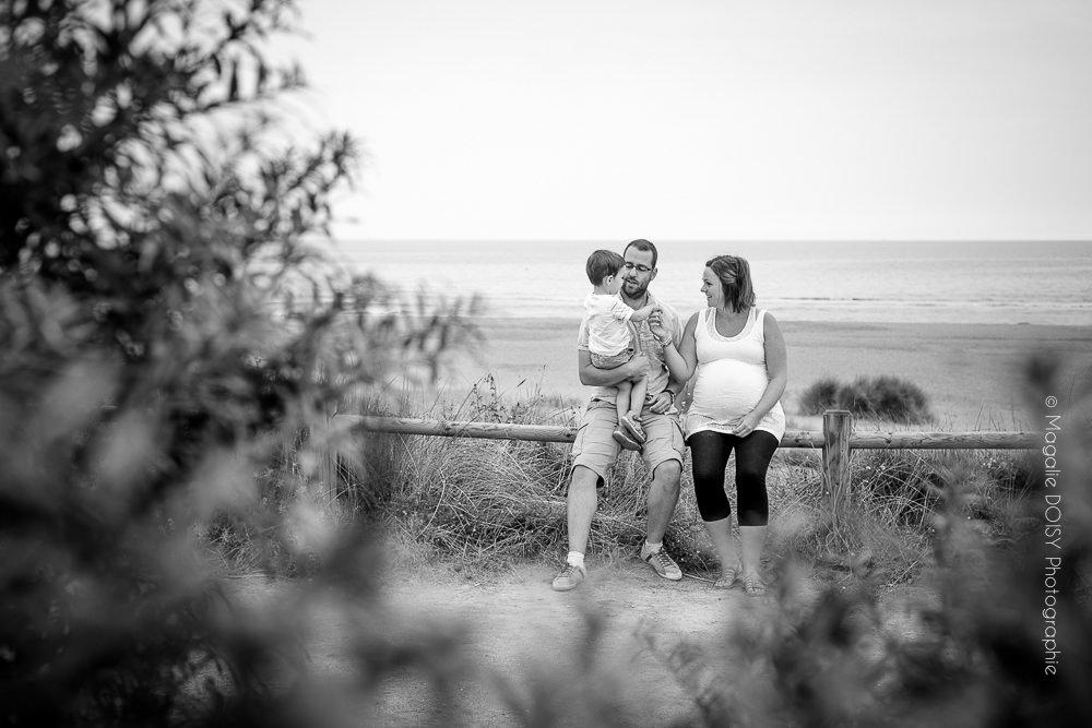 Séance photo grossesse et famille - Plage de Merville-Franceville