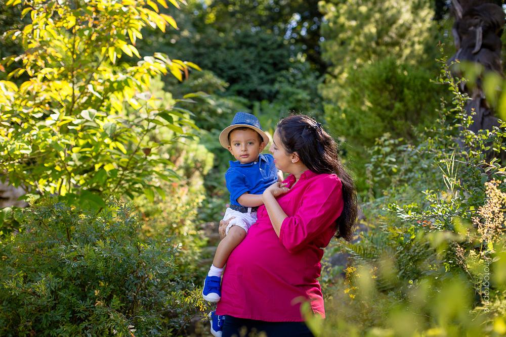 Photographe séance famille au Jardin des plantes de Caen