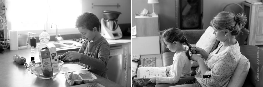 Séance photo famille à domicile façon reportage - Atelier cuisine